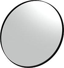 Specchio tondo con cornice in resina verniciata