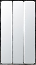 Specchio trittico in metallo nero effetto