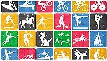 Sport Icons - Tappetino antiscivolo per bagno e