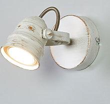 Spot Leonor bianco con lampadina LED GU10