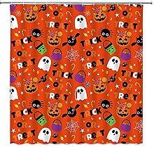 SPXUBZ Tenda da doccia di Halloween, Horror