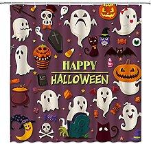 SPXUBZ Tenda da doccia di Halloween, Horror Strega