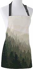 SQSHWL Grembiule Retro Foresta foschia Regolabile