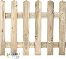 Staccionata classica in legno 120 x 210 cm