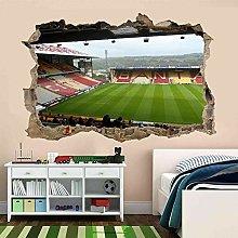 Stadio di calcio 3D Adesivo murale Decalcomania