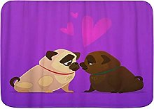 Stampa 3D Tappetino Zerbini Coppia Baciare Cani