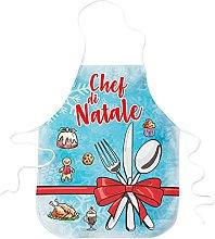 STAMPATEK Grembiule Chef di Natale con Fiocco