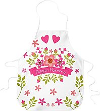 STAMPATEK Grembiule da Cucina Auguri Mamma Fiori e