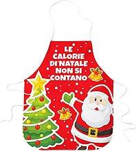 STAMPATEK Grembiule da Cucina Babbo Natale Albero