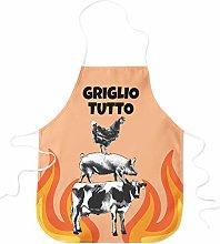 STAMPATEK Grembiule Divertente Barbecue Griglio