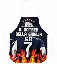 STAMPATEK Grembiule Divertente Barbecue Il Bomber