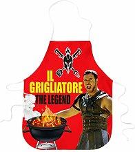 STAMPATEK Grembiule Divertente Barbecue Il