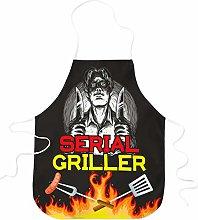 STAMPATEK Grembiule Divertente Barbecue Serial