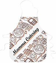 STAMPATEK Grembiule Divertente Mamma Catering Idea