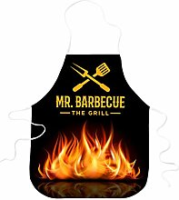 STAMPATEK Grembiule Divertente MR. Mister Barbecue
