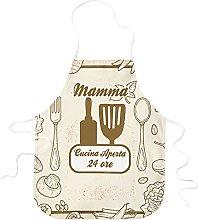 STAMPATEK Grembiule Mamma Cucina Aperta 24 Ore