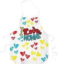 STAMPATEK Grembiule Nonno Nonna I Love Nonni Festa