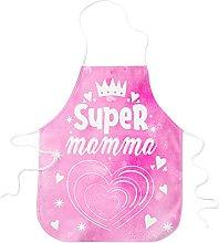 STAMPATEK Grembiule Super Mamma Cucina Festa della