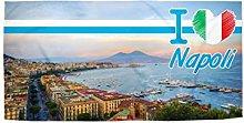 STAMPATEK Telo Mare Napoli Città Asciugamano in