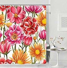 Stampato in Digitale Tenda da Bagno fiori colorati