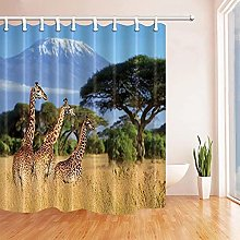 Stampato in Digitale Tenda da Bagno giraffa