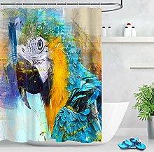 Stampato in Digitale Tenda da Bagno pappagallo di