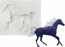 Stampi in silicone 3D a forma di cavallo per