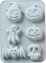 Stampi in silicone a forma di fantasma con teschio