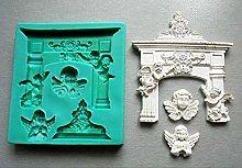 Stampi in silicone per fondente di Natale, stampi