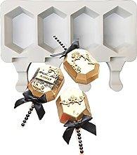 Stampi in silicone per ghiaccioli, 4 cavità,