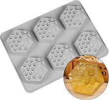 Stampi per sapone a forma di ape e nido d'ape,