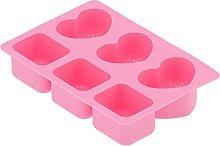 Stampi per sapone in silicone, 6 cavità stampi da