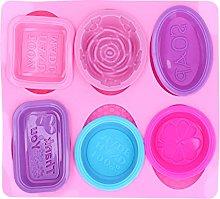 Stampi per sapone in silicone da 7 pezzi, stampo