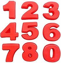 Stampi per torte QWET con numeri 3D, 25,4 cm per