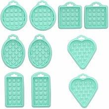 Stampi per waffle in silicone da 10 pezzi Mini