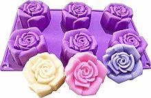 Stampi Rose Silicone - 6 cavità Stampo Torta