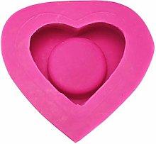 Stampo 3D a forma di cuore in silicone, per