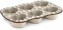 Stampo 6 muffin in stoneware cuore michelle