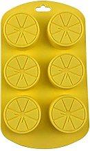 Stampo a forma di frutta in silicone a 6 cavità,