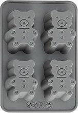 Stampo a forma di orso, in silicone, 4 cavità
