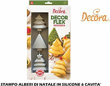 Stampo Alberi Di Natale In Silicone 6 Cavita'