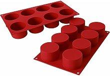 Stampo cilindrico in terracotta a 8 cavità in