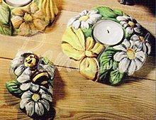 Stampo con FORME PORTACANDELA fiori ape FORMINE