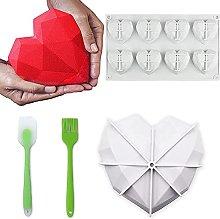 Stampo geometrico in silicone a forma di cuore con