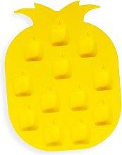 Stampo giallo per cubetti di ghiaccio in silicone
