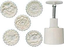 Stampo in plastica Mooncake da 100 g con fiori e
