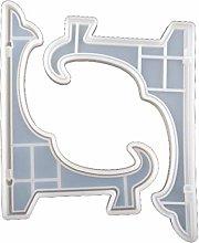 Stampo in resina, 2 pezzi da 10 pollici espositore