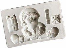 Stampo in resina 3D per Babbo Natale, in silicone,