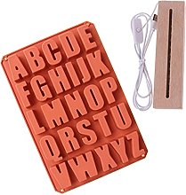 Stampo in resina alfabeto con display luminoso a