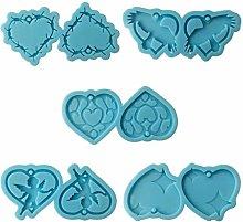 Stampo in resina epossidica a forma di cuore,
